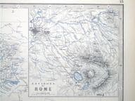 ITALY North and central, CORSICA.Johnston antique map c1860